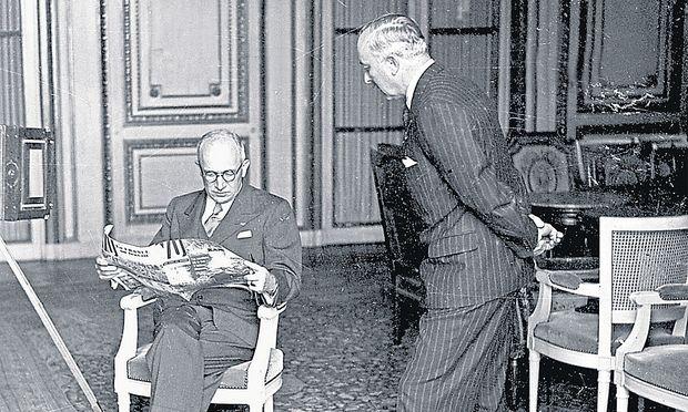Edvard Benes 1939 in Paris.