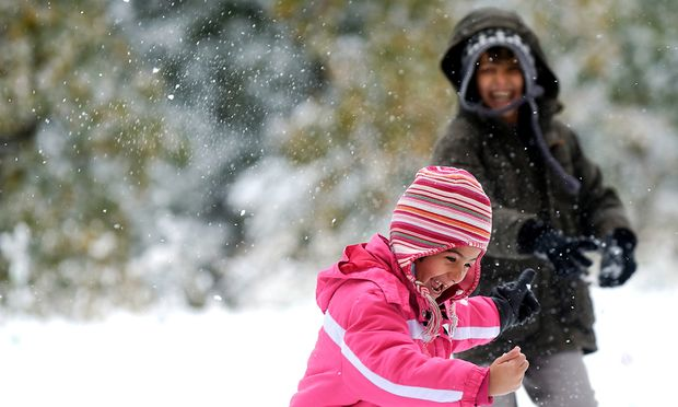 Fl�chtlinge im Schnee