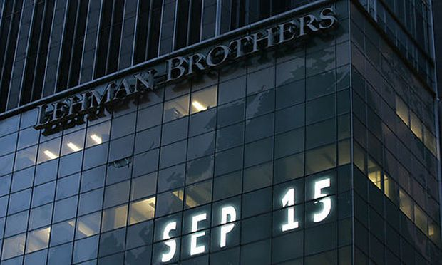 Lehman Brothers world headquarters is shown Monday, Sept. 15, 2008 in New York. Lehman Brothers, burd