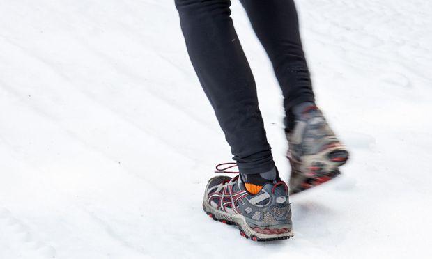Laufen im Schnee.