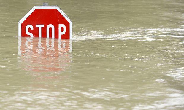 Hochwasser in Österreich - Seit dem Wochenende ist Hochwasseralarm in Österreich.