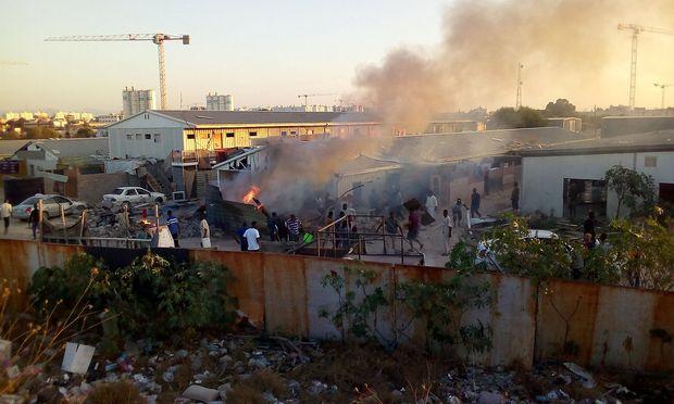 Eine Rakete traf ein Migranten-Lager in Tripolis am 2. September.