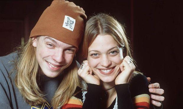 Die Viva-Moderatoren Nils Bokelberg und Heike Makatsch 1993