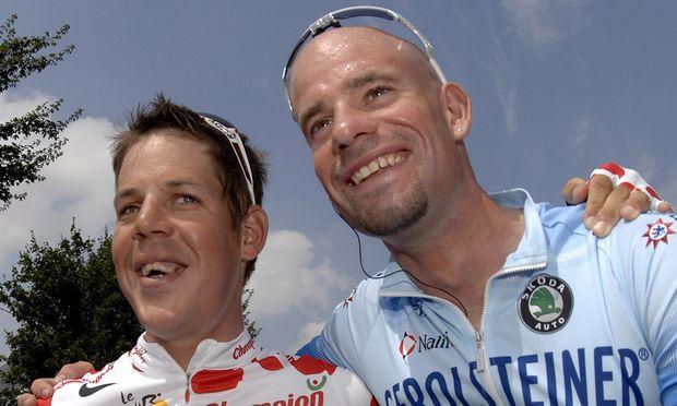 Bernhard Kohl mit Stefan Schumacher 2008
