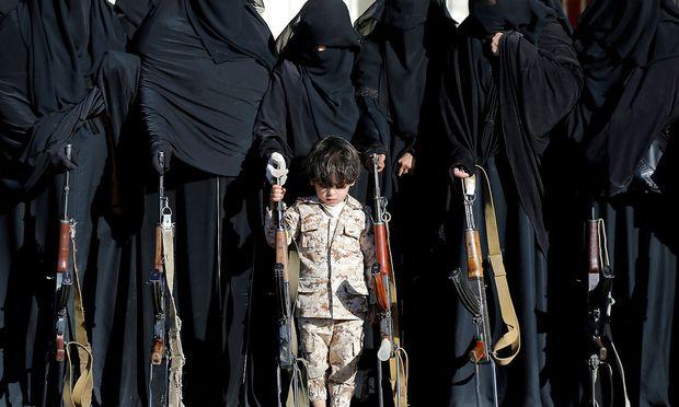 Anhänger der Houthi-Bewegung.