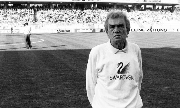 Ernst Happel – auf dem Fußballplatz war er die Autorität.
