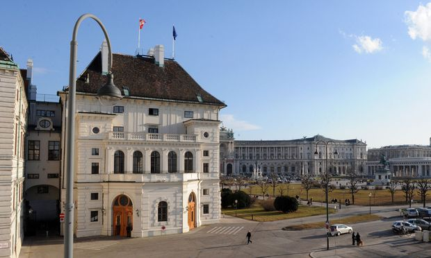 Blick auf die Hofburg