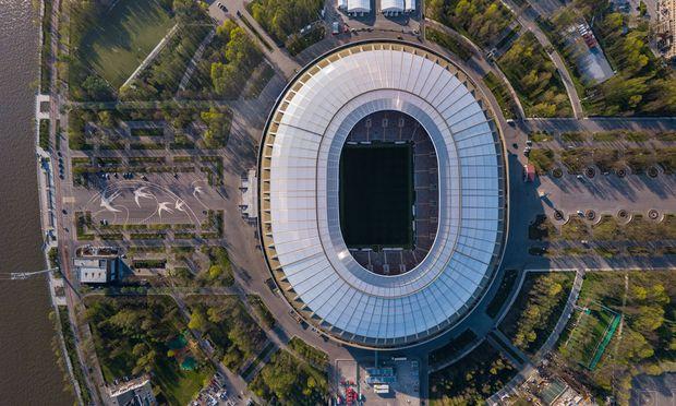 WM 2018 Sportstaette Olympiastadion Luschniki Moskau Aerial image of Luzhniki Stadium Moscow Rus