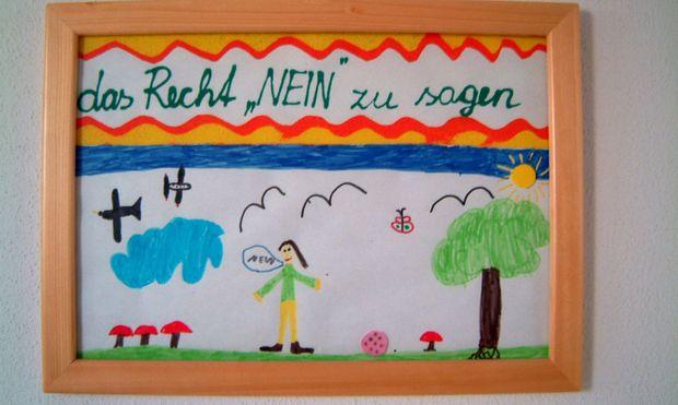 Kinderzeichnung 'Das Recht nein zu sagen'