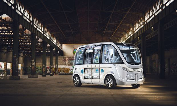Der fahrerlose Bus wird ab 2019 in der Seestadt Aspern im Echtbetrieb getestet.