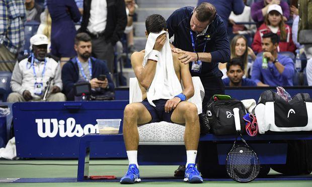 Tennis US Open 2019 Abandon de Novak Djokovic Serbie contre Stan Wawrinka Suisse TENNIS
