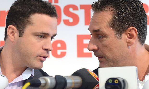Johann Gudenus und Heinz-Chrisitan Strache.