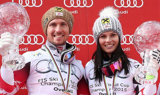 Marcel Hirscher und Anna Fenninger