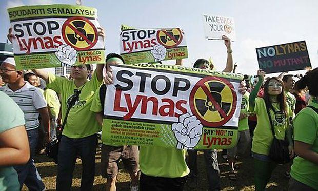 Tausende protestierten gegen Fabrik für seltene Erden in Malaysia