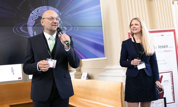 Gerhard Rodler und Iris Einwaller bei der Begrüßung.
