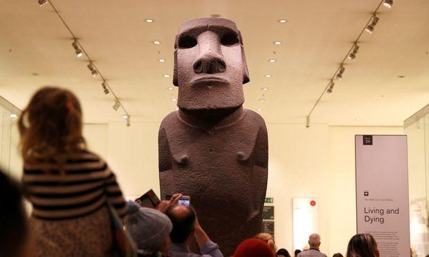 Diese Skulptur im British Museum wurde 1868 auf den Osterinseln von britischen Seeleuten geraubt.