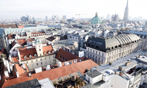 Blick über Wien Richtung Stephansdom.