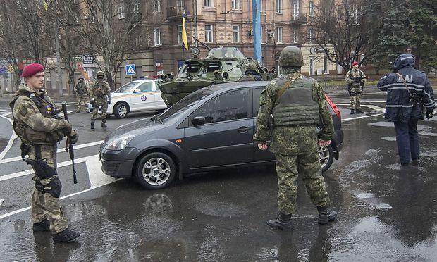 Soldaten in der Hauptstadt Kiew.