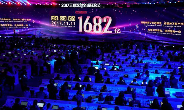 Bei Alibaba blickt man gespannt auf den Umsatz des Single-Tags in China.