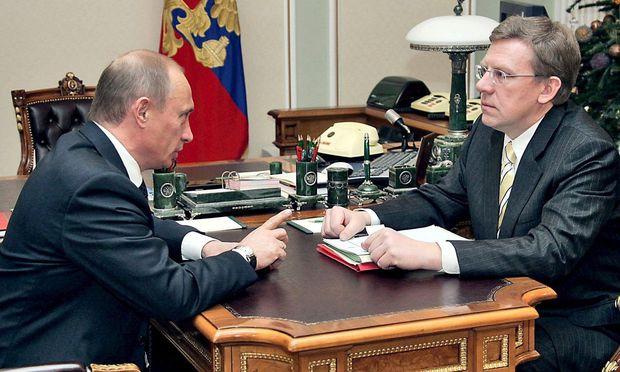 Wladimir Putin und Alexej Kudrin