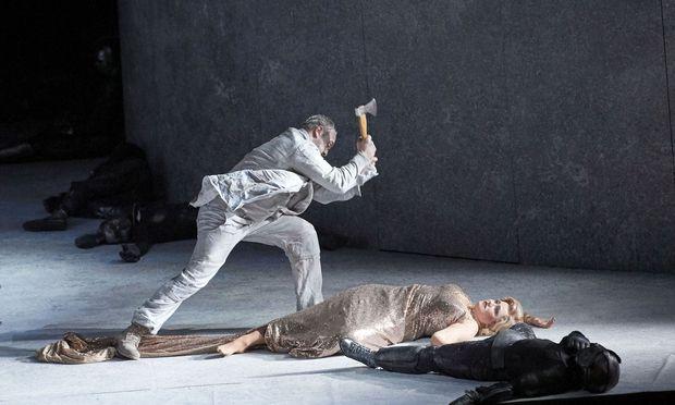 Ein dominierender Orest, eine kapriziöse Helena: Thomas Johannes Mayer als Orest und Laura Aikin als Helena in der Wiener Staatsoper.