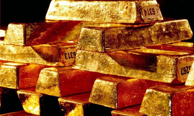 Diese Goldbarren der Deutschen Bundesbank liegen in Frankfurt und sind echt.