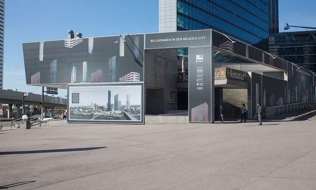 Besucherzentum D-City in Wien.
