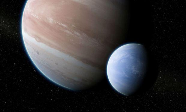 Kepler-1625b umkreist 4000 Lichtjahre von der Erde im Sternbild Schwan einen Stern (Animation).