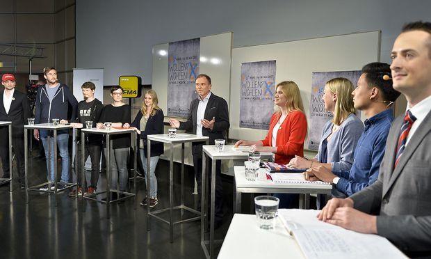Podiumsdiskussion bei der ÖH-Wahl
