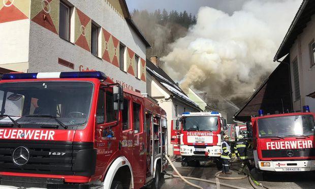 Dachstuhlbrand im niederösterreichischen Göstling an der Ybbs