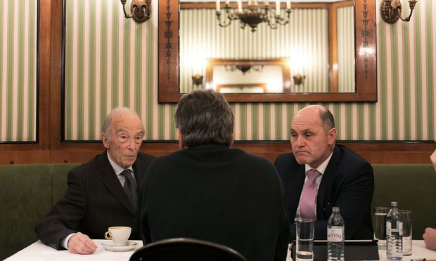 Herbert Löwy und Nationalratspräsident Wolfgang Sobotka.