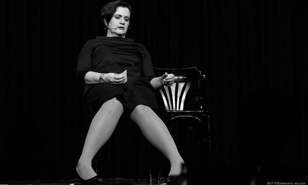 Magda Leeb bei der Premiere in der Wiener Kulisse
