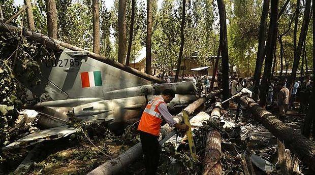 Teil einer abgestürzten indischen MiG-21, August 2015