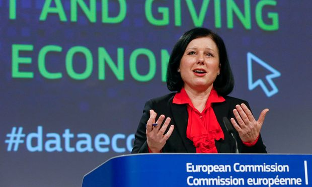 FILE PHOTO - EU Justice Commissioner Vera Jourova holds a news conference on internet privacy at the EC headquarters in Brussels