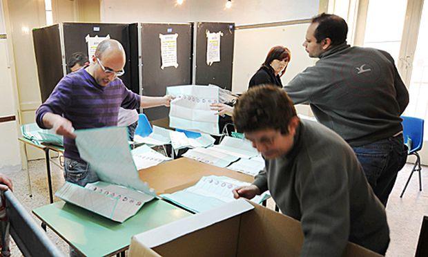 Auszählung der Stimmen nach den Regionalwahlen in Italien
