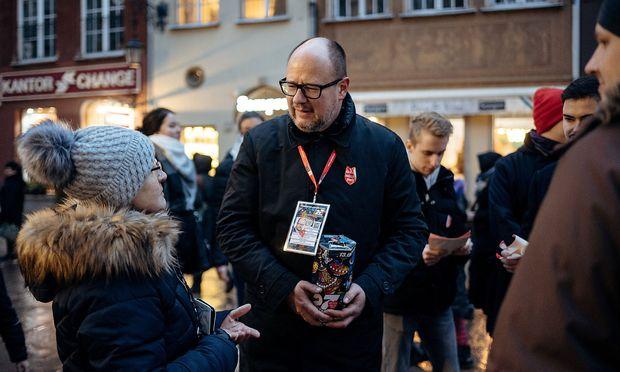 Pawel Adamowicz am Tag des Attentats, dem 13. Jänner.