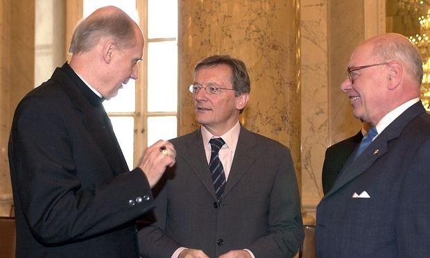 Robert Kauer (rechts) mit Egon Kapellari und Wolfgang Schüssel