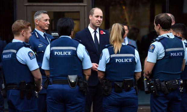 Prinz William traf mit den Ersthelfern des Christchurch-Angriffs am 15. März zusammen.