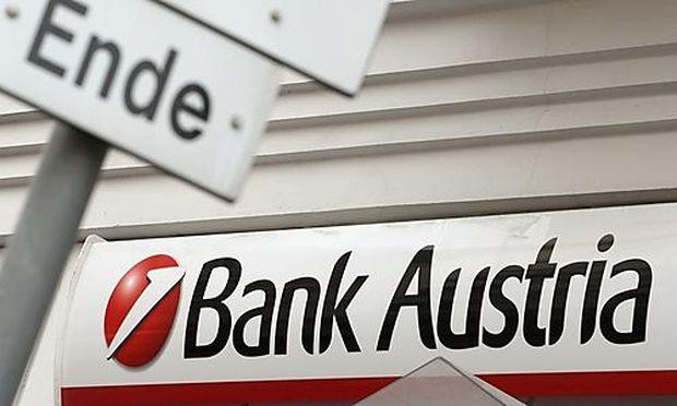 The logo of Bank Austria