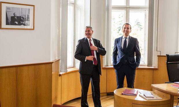 Ex-SPÖ-Wahlkampfmanager Niedermühlbichler und Kanzler Kern