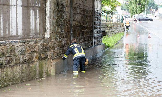 Auch in Krems hatte die Feuerwehr viel zu tun.