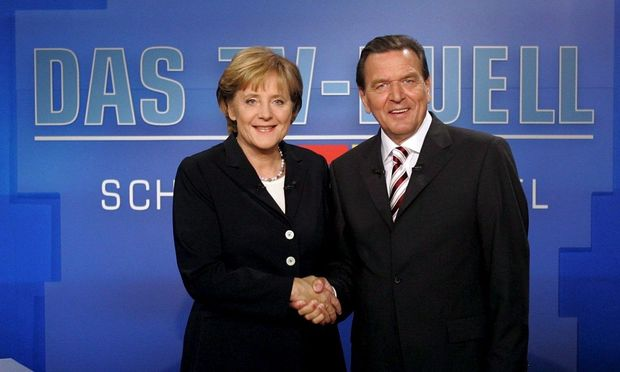 Merkel, Schröder