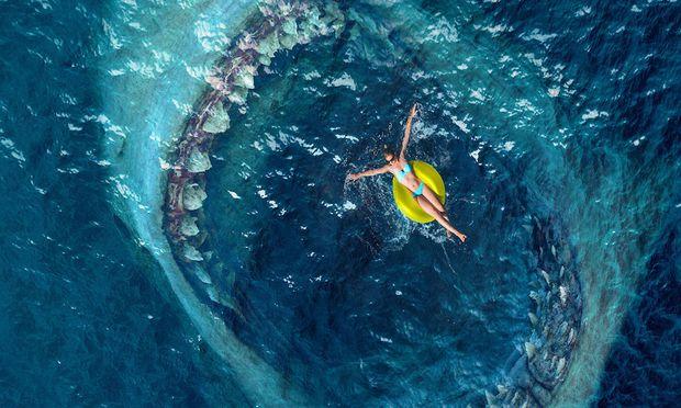 """Sein Vorbild, der Carcharocles megalodon (wahrscheinlich aus der Familie der Makrelenhaie), lebte bis vor 2,6 Millionen Jahren, nun treibt """"The Meg"""" in den Kinos sein Unwesen."""