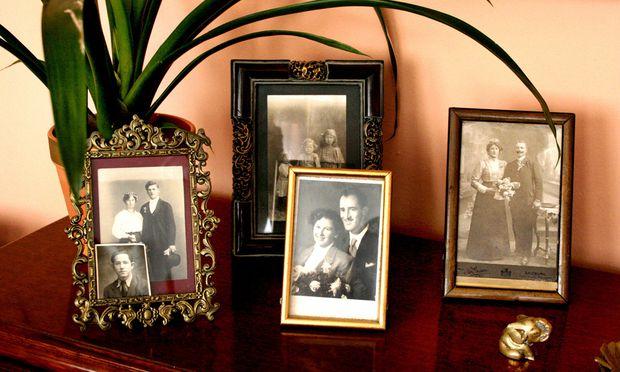 Familienfotos Idylle drueckt