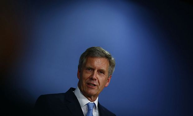 Former German President Wulff presents his book 'Ganz Oben. Ganz Unten' during news conference in Berlin