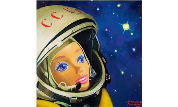 "Antiheld. Vladimir Dubossarskyx/Alexsander Vinogradovs Bildnis des ""Cosmonaut No.1""."