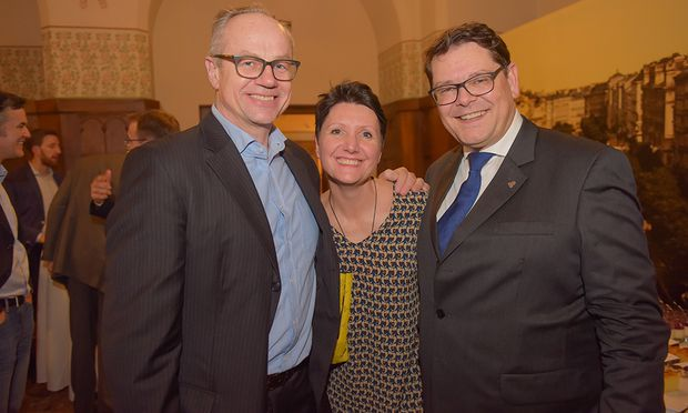 Georg Fichtinger (CBRE), Sandra Bauernfeind, Frank Brün (RICS)