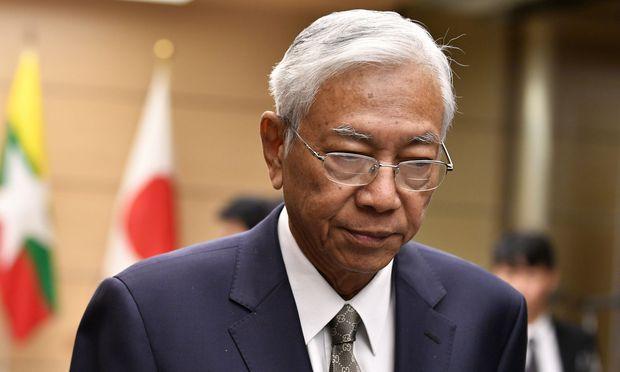 Htin Kyaw hat am Mittwoch überraschend seinen Rücktritt erklärt