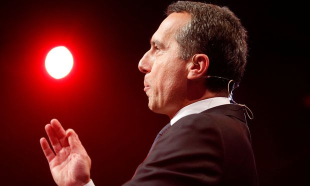 Austria´s Chancellor Christian Kern of the SPOe attends his party´s official start of the election campaign in Graz, Austria