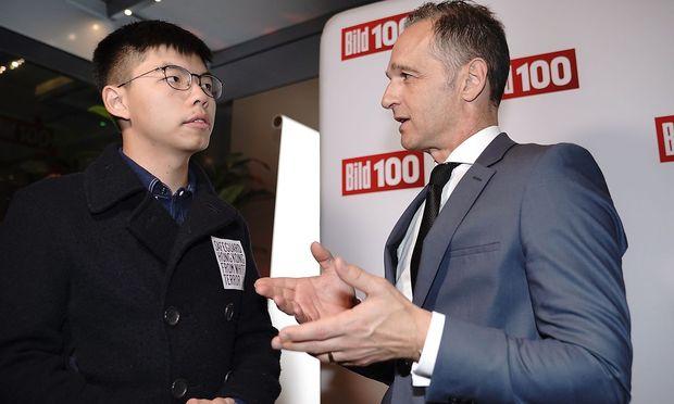 Joshua Wong und Heiko Maas.